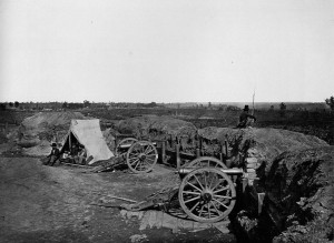 Outside Atlanta, Civil War camp