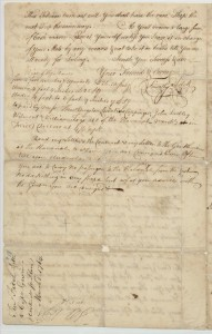 Mid-voyage letter and Contract for Captain peter Gwinn, P 4